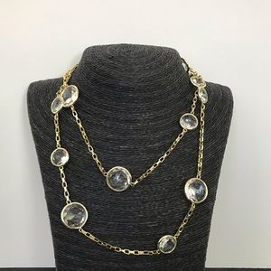 Rivka Friedman Gold Clad Long Crystal Necklace